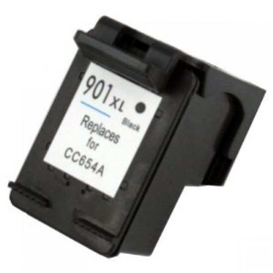 Recycled HP CC654AE (No. 901XL) High Capacity Black Ink Cartridge (700 Pages)