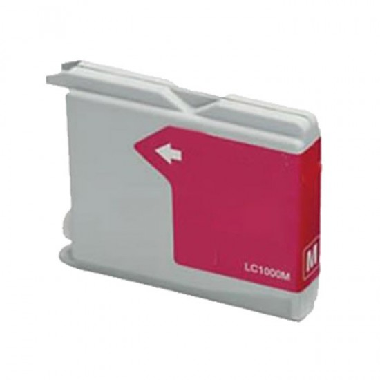 Compatible Brother LC1000 LC970 Magenta Ink Cartridge