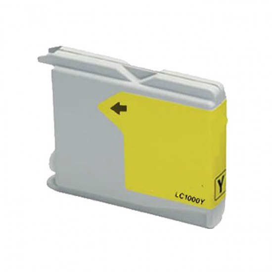 Compatible Brother LC1000 LC970 Yellow Ink Cartridge