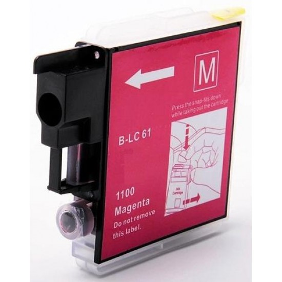 Compatible Brother LC1100 LC980 Magenta Ink Cartridge