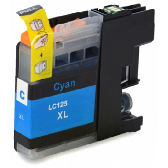 Compatible Brother LC-125XLC High Capacity Cyan Ink Cartridge