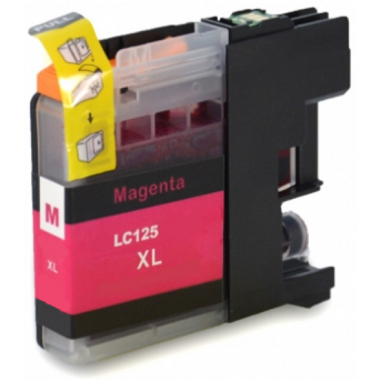 Compatible Brother LC-125XLM High Capacity Magenta Ink Cartridge