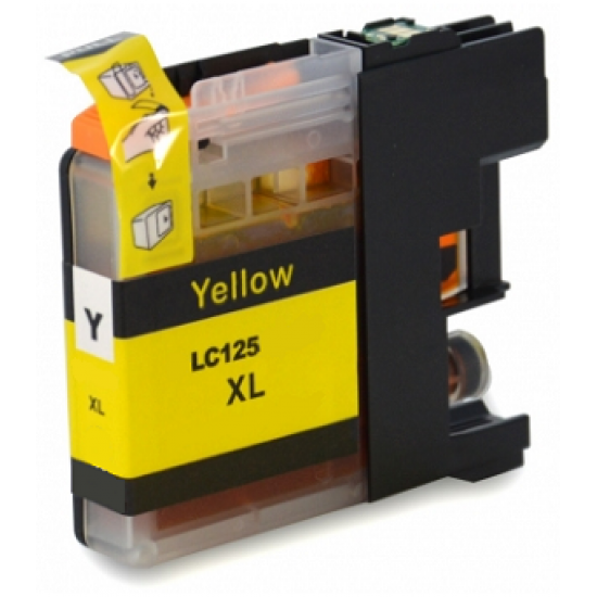 Compatible Brother LC-125XLY High Capacity Yellow Ink Cartridge