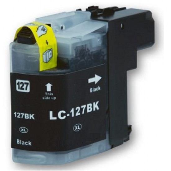 Compatible Brother LC-127XLBK Black High Capacity Ink Cartridge