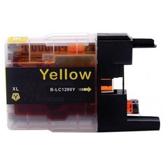 Compatible Brother LC1280XL-Y Yellow ink cartridge