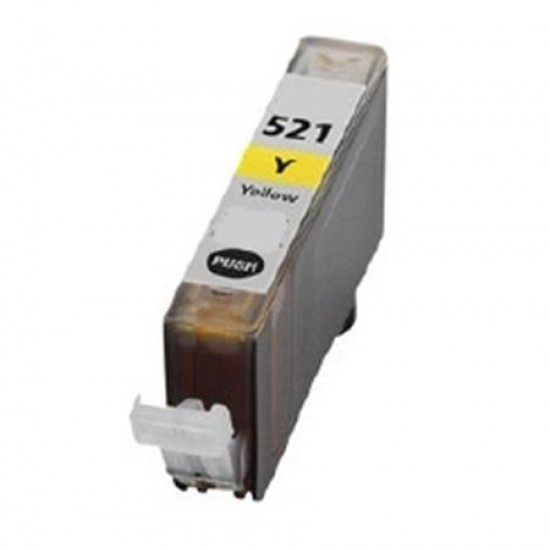 Canon CLI-521Y Compatible Yellow Cartridge FULLY CHIPPED.