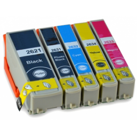 Compatible Epson T2636 (26XL) Full Set of 5 Ink Cartridges