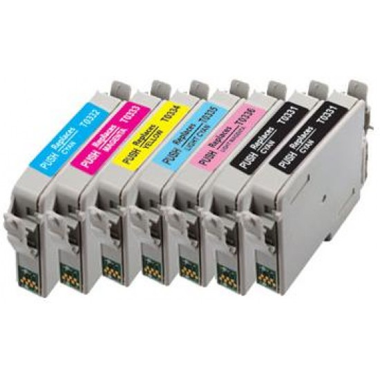 Compatible Epson Full Set of  6 T0331-6 Plus 1 Extra T0331