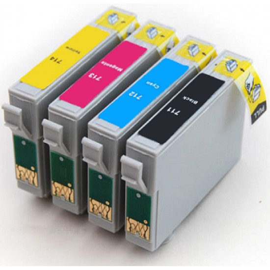 Compatible Epson T0715 Full Set of 4 Ink Cartridges