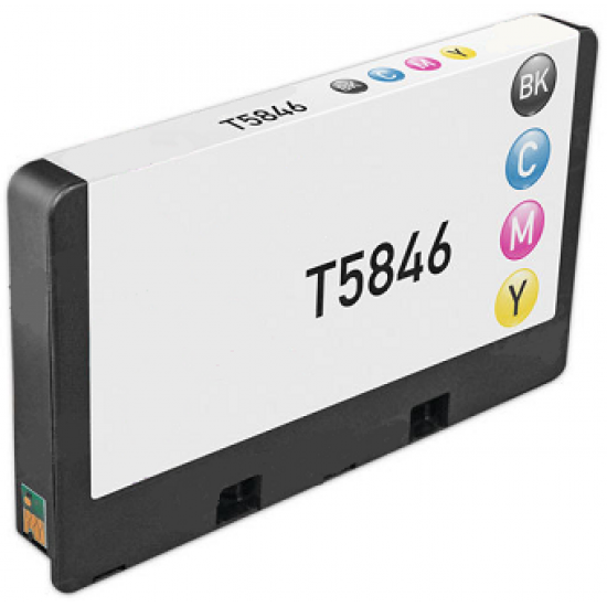 Compatible Epson T5846 Black and Colour Ink Cartridge