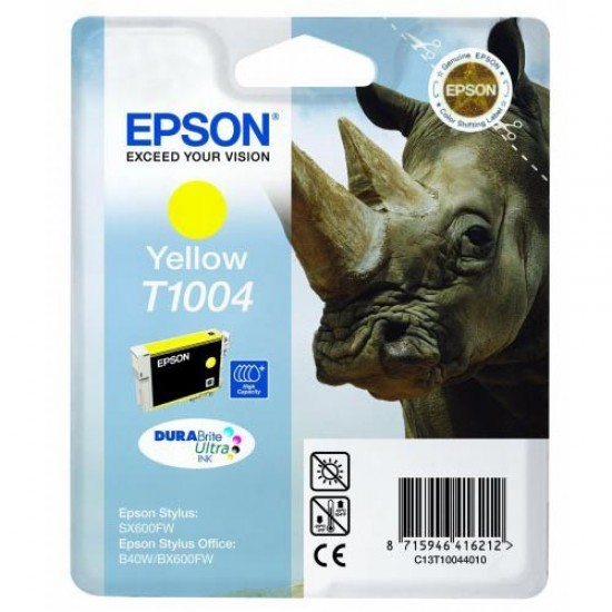 Genuine Epson T1004 Yellow Ink Cartridge