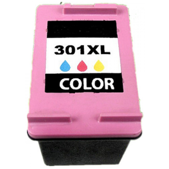 Recycled Tri-Colour HP 301XL High Capacity Ink Cartridge CH564EE (330 Pages)