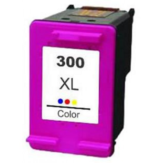 Recycled HP CC644EE (No. 300XL) High Capacity 3 Colour Ink Cartridge (11ml) (440 Pages)